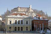 Ljubljana's Castle And Midieval City Center, Ljubljana, Slovenia