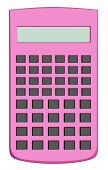 Pink Scientific Calculator Isolated