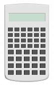 White Scientific Calculator Isolated