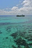 The fantastic Belize Barrier Reef with it's crystal clear waters and small cayes.