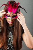 pic of venetian carnival  - Holidays people and celebration concept - JPG