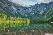 Avalanche Lake With Reflection In Glacier National Park
