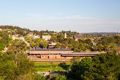 picture of cbd  - A view over Castlemaine CBD and station from the Gaol on a warm evening - JPG