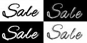 Black and white sale banner