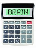 Calculator With Brain On Display
