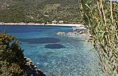 Mikros Gialos bay at Lefkada island, Greece