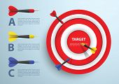 Dart And Target Infographic Template, Business Concept