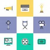 Video Production Pictogram Icons Set