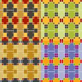 Seamless Colorful Symmetric Patterns