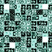 Decorative Geometric Pattern In Cold Tones
