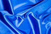 Blue silk texture