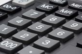 Calculator keypad gray buttons