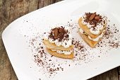 Hearts Of Puff Pastry With Cream And Chocolate