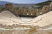 stock photo of akropolis  - Herodus Atticus ancient theater at Athens - JPG
