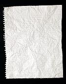 Crinkled Or Crumpled Ruled Paper