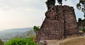 picture of hindu  - Candi Sukuh Hindu temple is an ancient temple looking like a Mayan pyramid near Solokarta - JPG