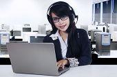 Beautiful Customer Service With Laptop