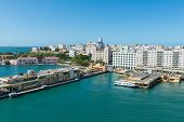 stock photo of san juan puerto rico  - Port of old San Juan Puerto Rico - JPG