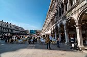 People visit San Marco square in Venice, Italy