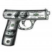Handgun  Made From Dollars
