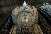 statue of queen Catherine de Medicis in  basilica of saint-denis