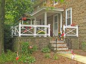Flamingo-ed porche