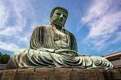 stock photo of buddha  - The Great Buddha of Kamakura  - JPG