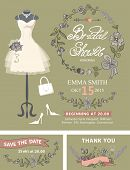 pic of dress mannequin  - Bridal shower invitation set - JPG