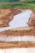 foto of hot water  - Hot summer water source exhaustion bottom of lake became drought land water security is environment problem of global change climate make disaster - JPG