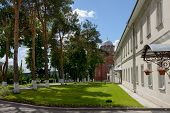 foto of nicholas  - The view along central alley from northern side towards St Nicholas Cathedrals of Intercession  - JPG
