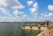 picture of dam  - Dam on the lagoon Nielisz near Nielisz village located in the Lublin province Poland - JPG