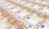 stock photo of european  - European currency bills stacks background - JPG