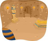stock photo of catacombs  - Illustration Featuring the Interior of a Pyramid - JPG
