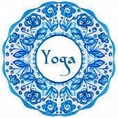 stock photo of indian blue  - ector yoga illustration - JPG