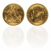 Gold Sovereign With Reflection