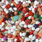 stock photo of gem  - Bunch of Semi Precious Gem Stones for Jewelry Making - JPG