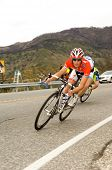CA â?? FEB 22: Frank Schleck of Luxembourg (Team Saxo Bank), rides downhill during the final stage o