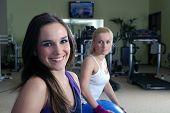 pretty girls in fitness club