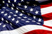 Usa Flag Billowing - Radiant Color