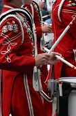 Drummers In Marching Band