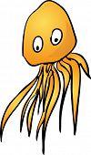 stock photo of googly-eyes  - Jellyfish Cute friendly cartoon marine creature hand - JPG