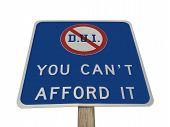 DUI Pennsylvania Sign Isolated