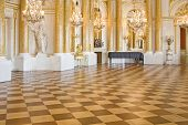 picture of yellow castle  - Ball room in Royal Castle in Warsaw - JPG