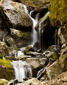 stock photo of gatlinburg  - Waterfall in the place of a thousand drips near Gatlinburg in Smoky Mountains - JPG