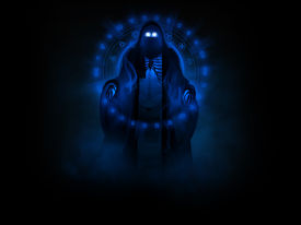 pic of wraith  - 3d illustration of a wraith ghost surrounded by evil magic - JPG