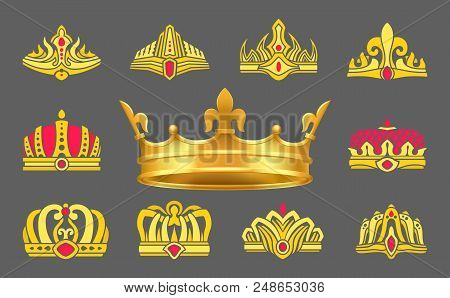 Luxurious Gold Crowns Inlaid With