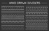 33 Hand Drawn Dividers, Geomtric Dividers And Waves, Vector Eps10 Illustration poster