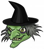 pic of boiling point  - A very detailed cartoon halloween witch head or mask - JPG