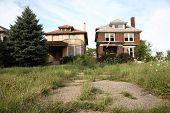 Abandoned houses in Detroit, Michigan