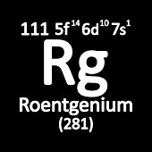 Periodic Table Element Roentgenium Icon. Vector Illustration. poster
